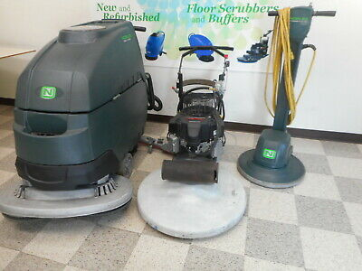 Floor Cleaning Equipment Package Scrubber Buffer Nobles SS5 Propane Burnisher