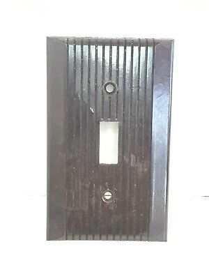 Vintage Art Deco Bakelite  Toggle Switch wall Cover Plate brown