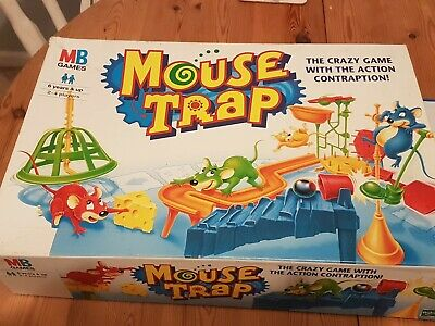 Classic Mouse Trap Board Game MB Vintage 1999 Hasbro. Complete, all parts in Box