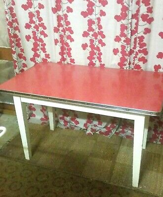 Retro 1960's Kitchen Table Red Laminex Formica @ Melbourne Pick Up Brighton East