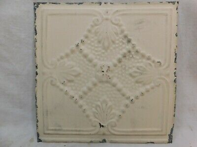 "Antique 1800's 12"" x 12"" TIN CEILING Tile Victorian Framed Beaded Design ORNATE"