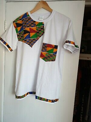 New African Kente T Shirts, Size L