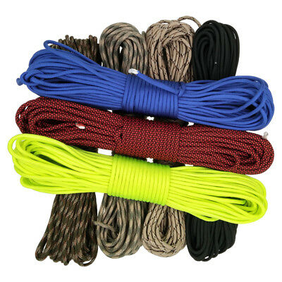 100FT Feet Mil Spec IV 750LB 7 Strands Parachute Cord Paracord Rope Cord 5mm Dia
