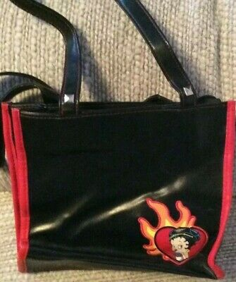 Collectible Betty Boop Black Leather Purse - USED