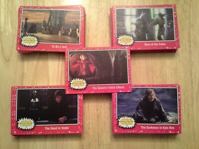 Star Wars Journey to The Rise of Skywalker Red Parallel (Target) 101 card lot