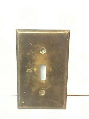 Antique Brass Toggle Wall Switch Plate