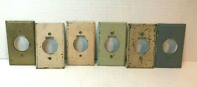 Trumbull Vintage Brass Single Hole Round Plug Outlet Wall Plate Covers