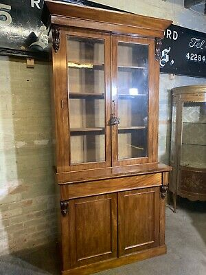 Antique Victorian Mahogany Bookcase . Delivery Available Most Areas