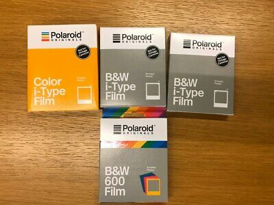 EXPIRED - 4 x Polaroid Originals Films 1x B&W Color Frame 1x Color 2x B&W