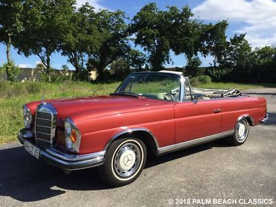 1967 Mercedes-Benz 200-Series  1967 Mercedes Benz 280SE Convertible European production Car #60