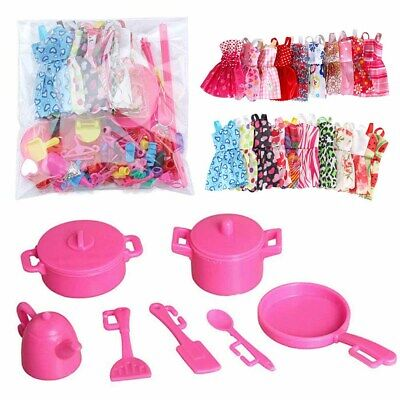 85X Barbie Doll Dresses, Shoes and jewellery Clothes Accessories For Girls AU
