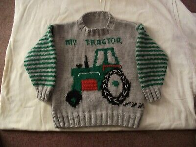 Kids tractor jumper red or green