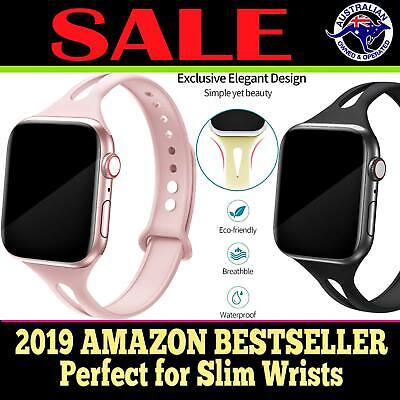 Sport Silicone Replacement Strap Band for Apple Watch iWatch  5 4 3 2 1 SLIM AUS