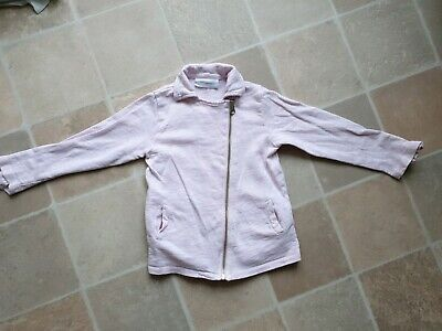 The Little White Company London Zipped Girls Jacket Pale Pink 3-4 Years