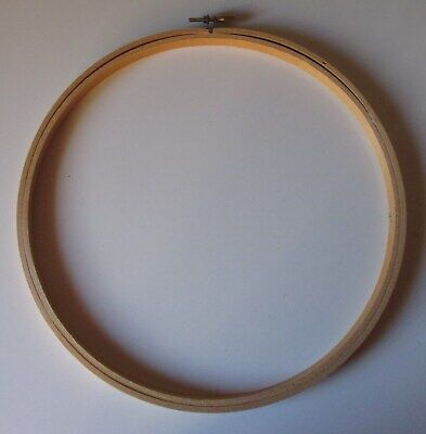 "3 EMBROIDERY HOOPs - BAMBOO WITH BRASS PIN CLOSURE - 10½"" / 26.5 cms"