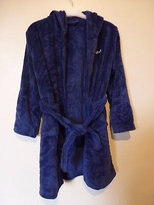Personalised Supersoft Bath Robe Dressing Gown CALEB 10-11 Yrs BNWT RRP £20 Navy