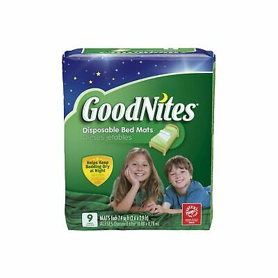 Goodnites Disposable Bed Mats Soft Quiet Material Comfortable Care Health