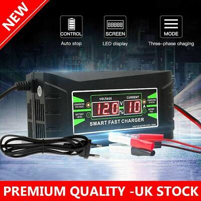 6 Amp Car Battery Charger Intelligent Pulse Repair Jump Starter 12V AGM/GEL UK