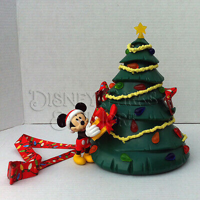 Disney Parks Holiday Retro Mickey Mouse Christmas Tree Light Up Popcorn Bucket
