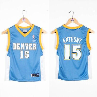 Kids Boys Denver Nuggets Nba Basketball Jersey Vest Reebok 8 Years