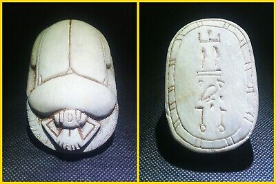 EGYPTIAN ANTIQUES ANTIQUITIES Scarab Beetle Khepri Figure Sculpture 1549-1170 BC