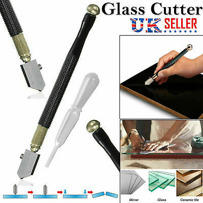 Glass Cutter Oil Lubricated Cut 2-8mm Professional Tool Mirror & Stained Glasses