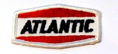 "Atlantic Gasoline Patch Embroidered Oil 2-5/8"" inches  vintage"