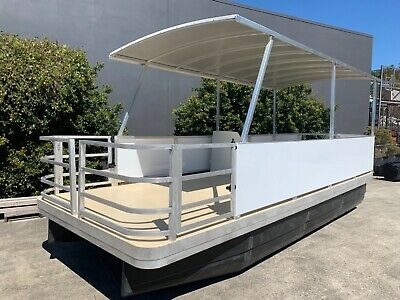 6 x 2.4 PONTOON BOAT FISHING WORK DIVE BARGE MINI HOUSE BOAT NEW