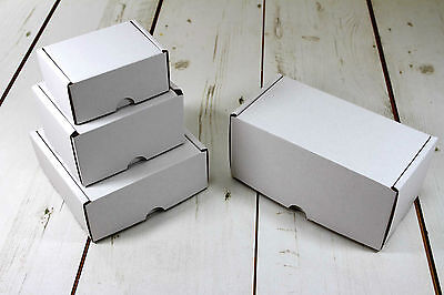 White Postal Cardboard Boxes Small Mailing Shipping Cartons *Multi Listing*