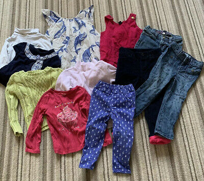 Baby Gap Girls 2-3 Years Bundle Dress Jeans Trousers Jumper Top Winter Pink Blue