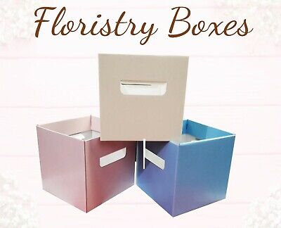 10 X Flower Box Bouquet Florist Boxes Living Vases Aqua Vase Plants Gift Sweets