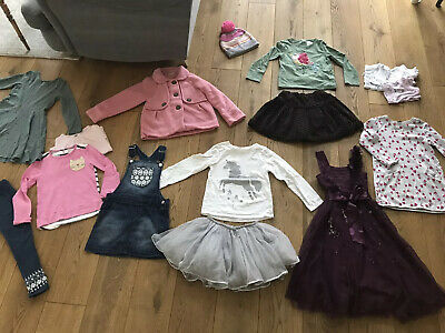 Large Bundle Of Girls Clothes Age 5-6 years Next, H&M, Miniclub