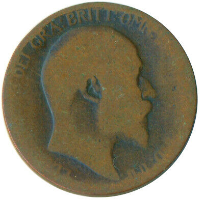 1907 Half Penny Of Edward Vii. Very Nice Collectible Coin    #Wt6907