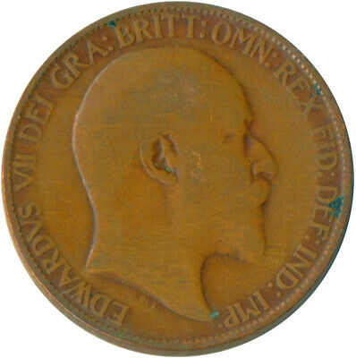 1907 Half Penny Of Edward Vii. Very Nice Collectible Coin    #Wt6908