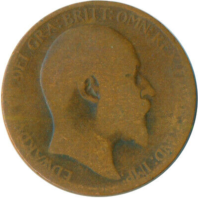 1906 Half Penny Of Edward Vii. Very Nice Collectible Coin    #Wt6910