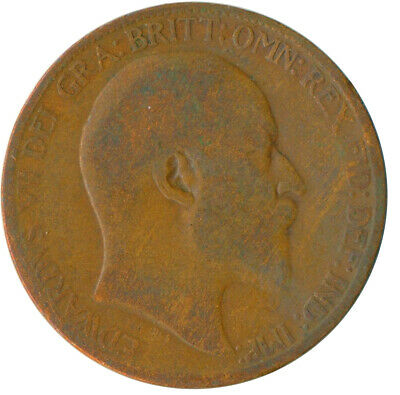 1906 Half Penny Of Edward Vii. Very Nice Collectible Coin    #Wt6919