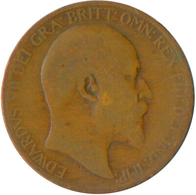 1907 Half Penny Of Edward Vii. Very Nice Collectible Coin    #Wt6923