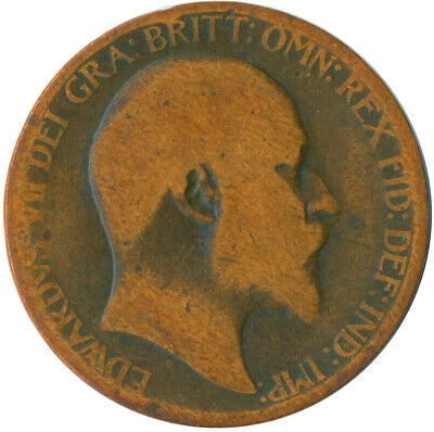1906 Half Penny Of Edward Vii. Very Nice Collectible Coin    #Wt6926