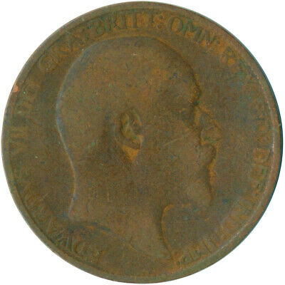1907 Half Penny Of Edward Vii. Very Nice Collectible Coin    #Wt6937