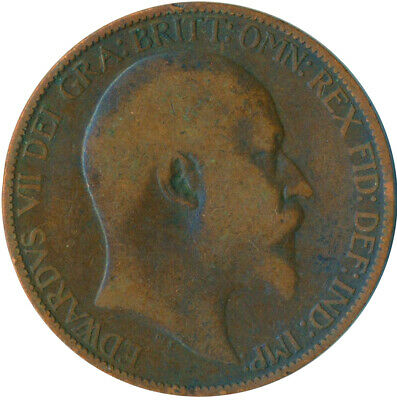 1907 Half Penny Of Edward Vii. Very Nice Collectible Coin    #Wt6939