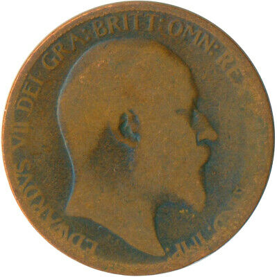 1906 Half Penny Of Edward Vii. Very Nice Collectible Coin    #Wt6951