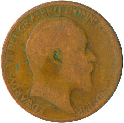 1906 Half Penny Of Edward Vii. Very Nice Collectible Coin    #Wt6953