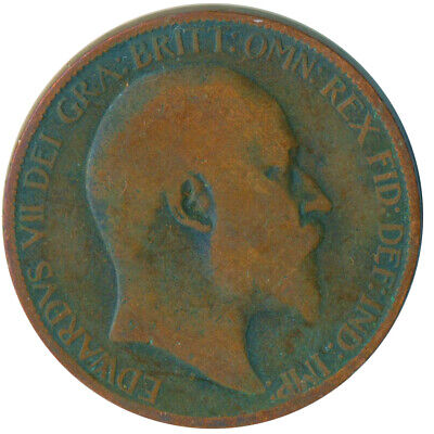1907 Half Penny Of Edward Vii. Very Nice Collectible Coin    #Wt6957