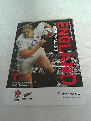 ENGLAND v NEW ZEALAND 21 NOVEMBER 2009 RUGBY PROGRAMME - TWICKENHAM