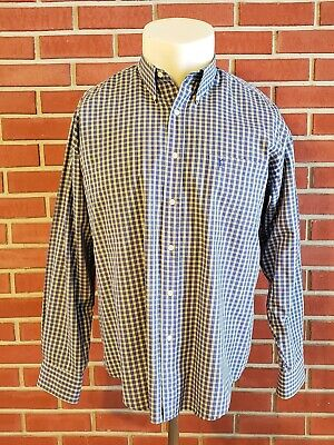 Yves Saint Laurent YSL Long Sleeve Button Front Shirt Mens 16 1/2 42 Plaid Check
