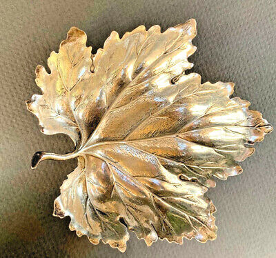Beautiful Buccellati  Sterling Silver Vine Leaf Form Bowl Beautiful -Mint Cond