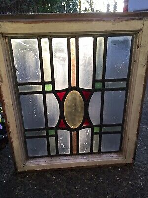 Antique Reclaimed Leaded light stained glass windows panels