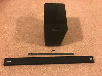 Cambridge Audio TVB2 v2 - Soundbar & Wireless Subwoofer, wall bracket and remote