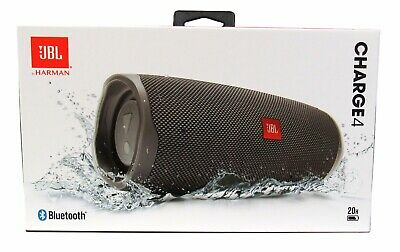 JBL Charge 4 Portable Waterproof Wireless Bluetooth Speaker - Gray *CHARGE4GRY