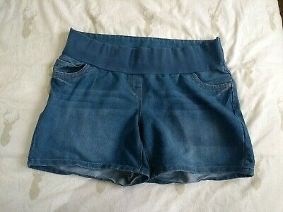 George Demin Blue Maternity Shorts Size 16